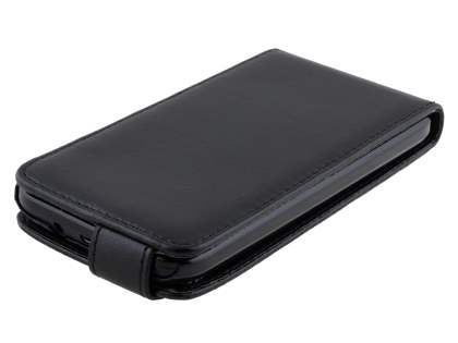 Synthetic Leather Flip Case for HTC Desire 310 - Classic Black