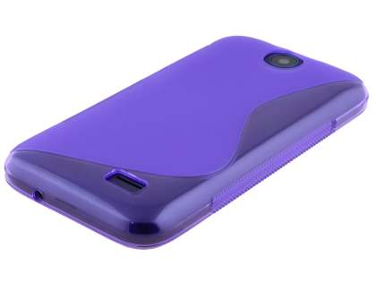 HTC Desire 310 Wave Case - Frosted Purple/Purple