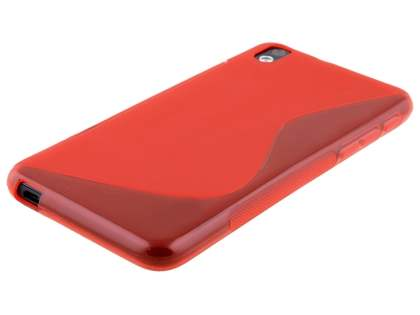 HTC Desire 816 Wave Case - Frosted Red/Red