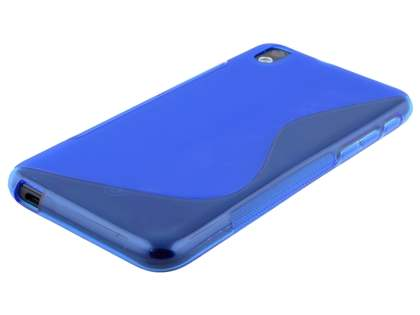 HTC Desire 816 Wave Case - Frosted Blue/Blue