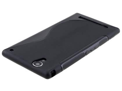 Sony Xperia T2 Ultra Wave Case - Frosted Black/Black