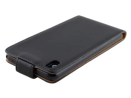 HTC Desire 816 Synthetic Leather Flip Case - Black