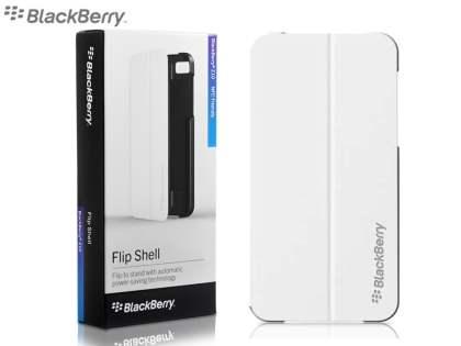 Original BlackBerry Z10 Flip Shell - Pearl White