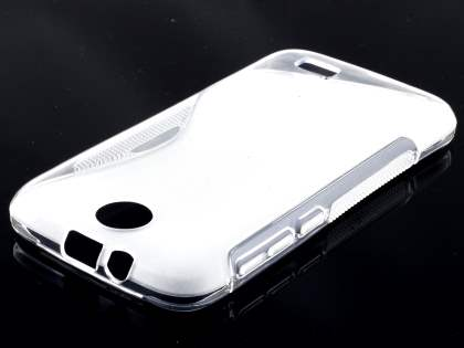 HTC Desire 310 Wave Case - Frosted Clear/Clear