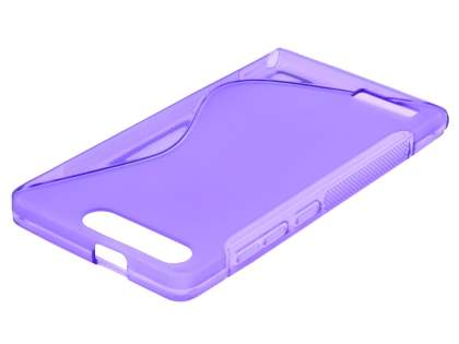 Huawei Ascend G6 4G Wave Case - Frosted Purple/Purple