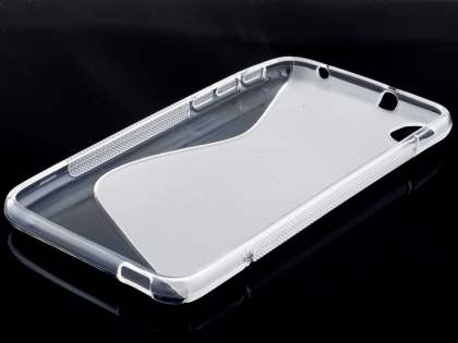 HTC Desire 816 Wave Case - Frosted Clear/Clear