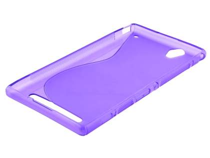 Sony Xperia T2 Ultra Wave Case - Frosted Purple/Purple