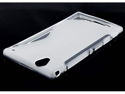Sony Xperia T2 Ultra Wave Case - Frosted Clear/Clear