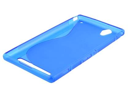 Sony Xperia T2 Ultra Wave Case - Frosted Blue/Blue