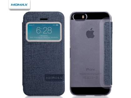 Momax Flip View Case for iPhone SE/5s/5 - Light Grey