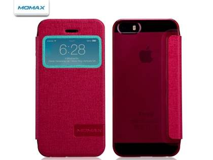 Momax Flip View Case for iPhone SE/5s/5 - Coral