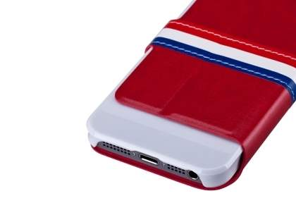 Momax French Style Flip View Case for Apple iPhone SE/5s/5 - Red