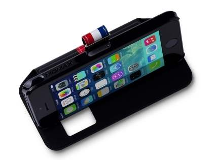 Momax French Style Flip View Case for Apple iPhone SE/5s/5 - Classic Black