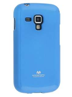 Mercury Goospery Glossy Gel Case for Samsung Galaxy Trend Plus S7583T - Sky Blue Soft Cover