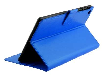 Synthetic Leather Wallet Case with Stand for Asus Google Nexus 7 2013 - Blue Leather Wallet Case