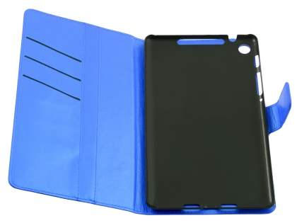 Synthetic Leather Wallet Case with Stand for Asus Google Nexus 7 2013 - Blue