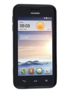 Wave Case for Huawei Ascend Y330 - Frosted Black/Black
