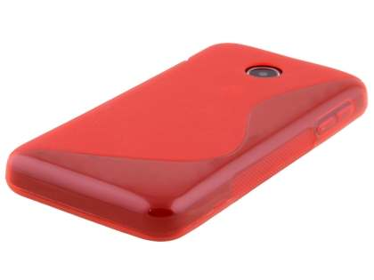 Wave Case for Huawei Ascend Y330 - Frosted Red/Red