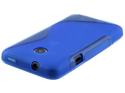 Wave Case for Huawei Ascend Y330 - Frosted Blue/Blue