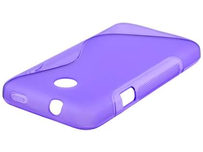 Wave Case for Huawei Ascend Y330 - Frosted Purple/Purple