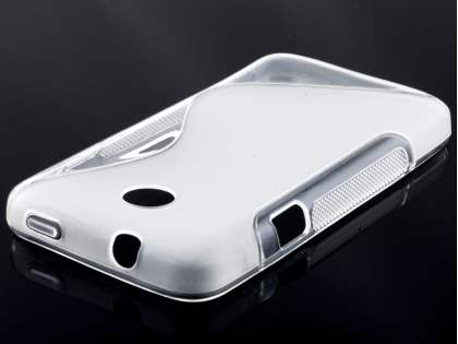 Wave Case for Huawei Ascend Y330 - Frosted Clear/Clear