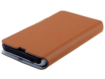 Nokia Lumia 635/636/630 Slim Genuine Leather Portfolio Case - Brown