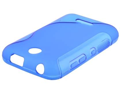 Wave Case for Nokia Asha 230 - Frosted Blue/Blue Soft Cover