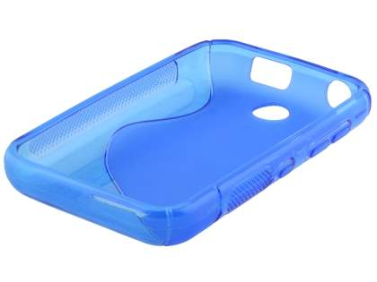 Nokia Asha 230 Wave Case - Frosted Blue/Blue