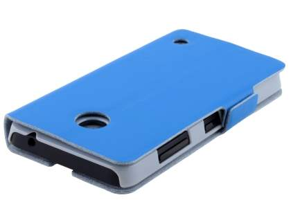 Nokia Lumia 635/636/630 Slim Genuine Leather Portfolio Case - Blue