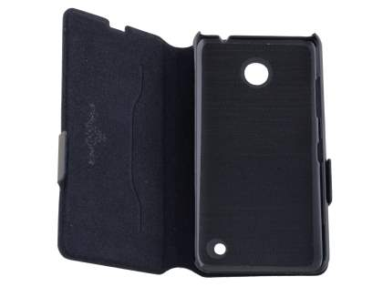 Nokia Lumia 635/636/630 Slim Genuine Leather Portfolio Case - Classic Black