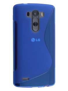 Wave Case for LG G3 - Frosted Blue/Blue Soft Cover