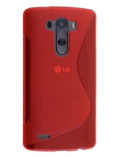 Wave Case for LG G3 - Frosted Red/Red Soft Cover