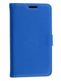 Dual Synthetic Leather Wallet Case with Stand for LG L80 - Blue