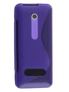 Wave Case for Nokia 301 - Frosted Purple/Purple