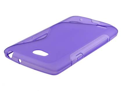 Dual Wave Case for LG L80 - Frosted Purple/Purple Soft Cover