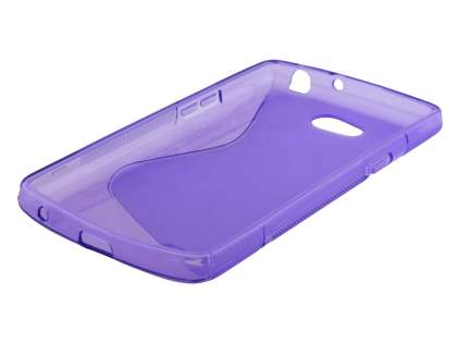 Dual Wave Case for LG L80 - Frosted Purple/Purple