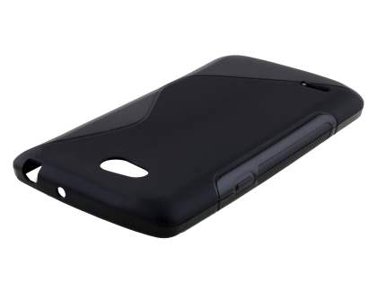 Dual Wave Case for LG L80 - Frosted Black/Black Soft Cover