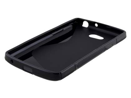 LG L80 Dual Wave Case - Frosted Black/Black