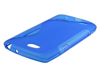 Dual Wave Case for LG L80 - Frosted Blue/Blue Soft Cover
