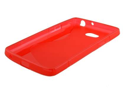Dual Wave Case for LG L80 - Frosted Red/Red