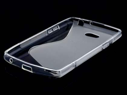 LG L80 Dual Wave Case - Frosted Clear/Clear