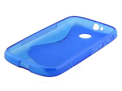 Wave Case for Motorola Moto E 1st Gen - Frosted Blue/Blue
