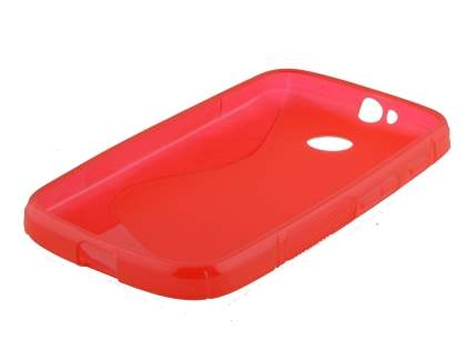 Motorola Moto E 1st Gen Wave Case - Frosted Red/Red