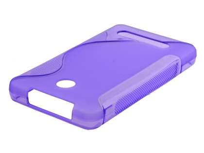 Wave Case for Nokia Asha 210 - Frosted Purple/Purple