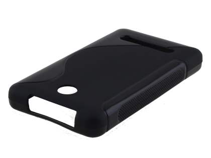 Nokia Asha 210 Wave Case - Frosted Black/Black