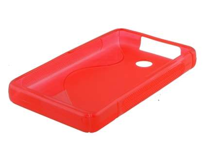 Nokia Asha 210 Wave Case - Frosted Red/Red