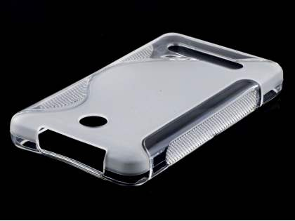 Wave Case for Nokia Asha 210 - Frosted Clear/Clear Soft Cover