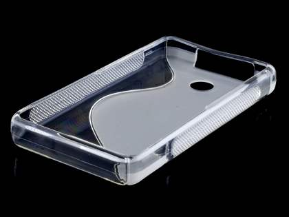 Nokia Asha 210 Wave Case - Frosted Clear/Clear