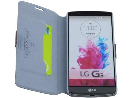 LG G3 Slim Genuine Leather Portfolio Case - Brown