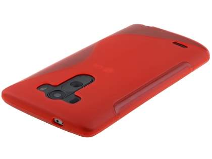 Wave Case for LG G3 - Frosted Red/Red